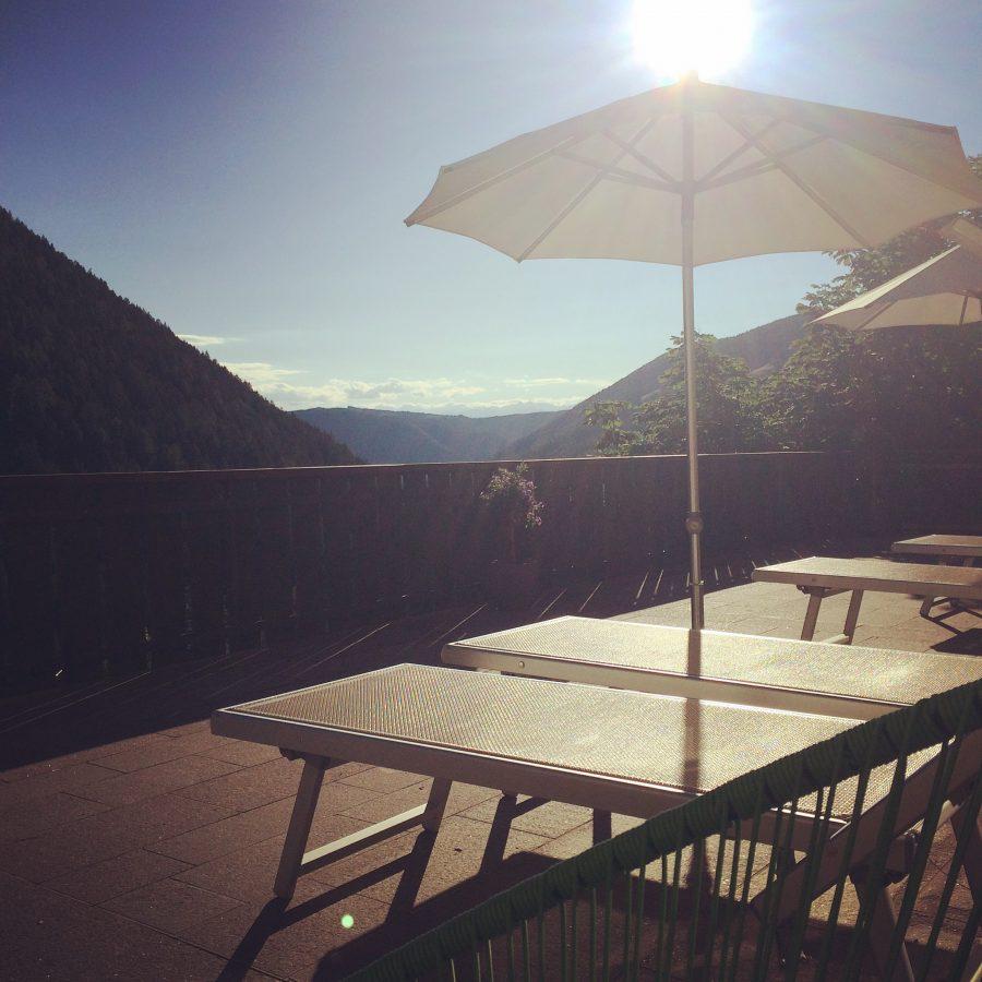 Terrazza con vista sulle Dolomiti - 3*S Stella Hotel Stern Welschnofen