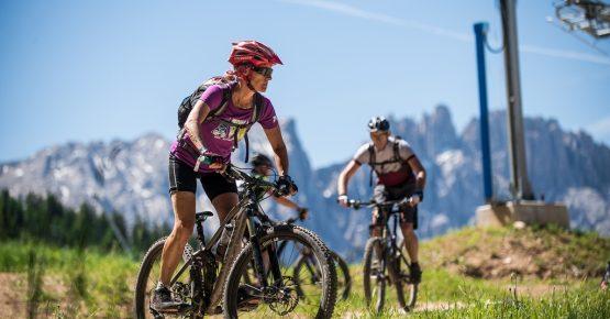 Mountain Bike Bike Trail Carezza