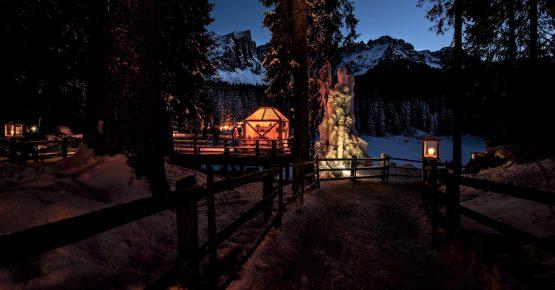 Christmas Carezza Lake Dolomiti