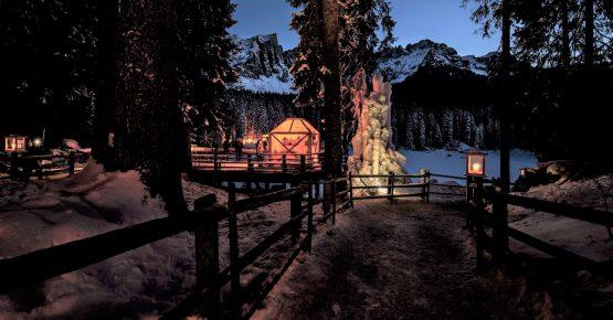 Magie Natalizie al Lago di Carezza Dolomiti