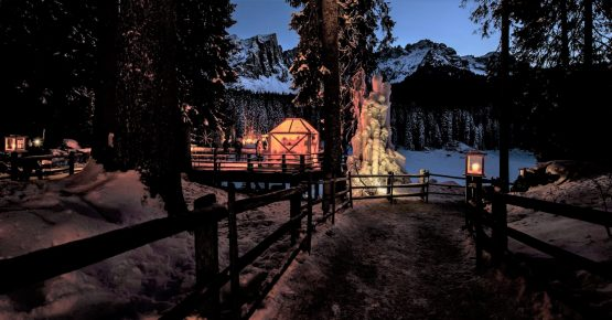 Christmas Carezza Lake Dolomiti